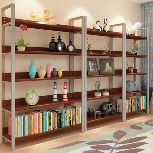 Steel Wood Shelf Display Bookshelf Image 16