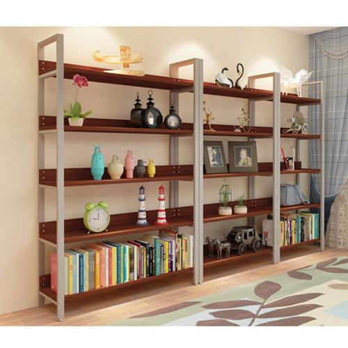 Steel Wood Shelf Display Bookshelf Image 17