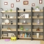 Steel Wood Shelf Display Bookshelf Image 1