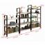 Steel Wood Shelf Display Bookshelf Image 19