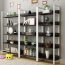 Steel Wood Shelf Display Bookshelf Image 2