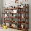 Steel Wood Shelf Display Bookshelf Image 3