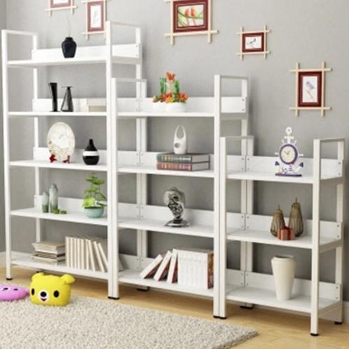 Steel Wood Shelf Display Bookshelf Image 4