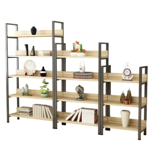 Steel Wood Shelf Display Bookshelf Image 5
