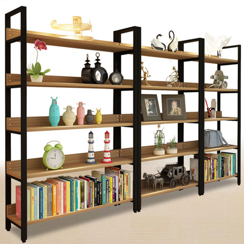 Steel Wood Shelf Display Bookshelf