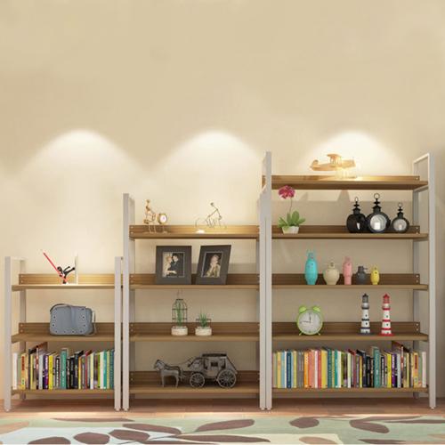 Steel Wood Shelf Display Bookshelf Image 7