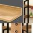 Steel Wood Shelf Display Bookshelf Image 8
