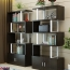 Creative Modern Steel Wood Bookshelf Image 9