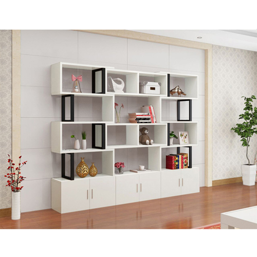 Creative Modern Steel Wood Bookshelf Image 11