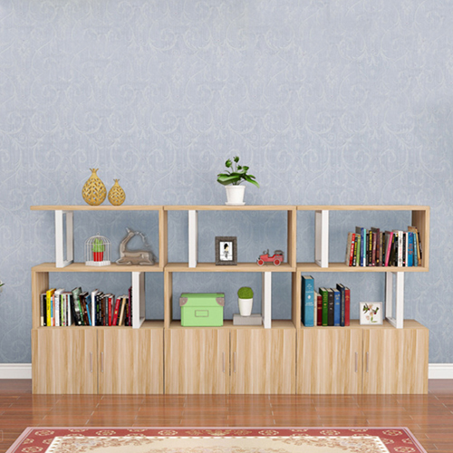 Creative Modern Steel Wood Bookshelf Image 12