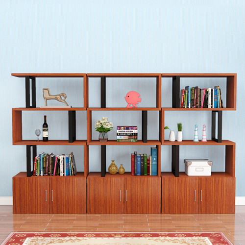 Creative Modern Steel Wood Bookshelf Image 13