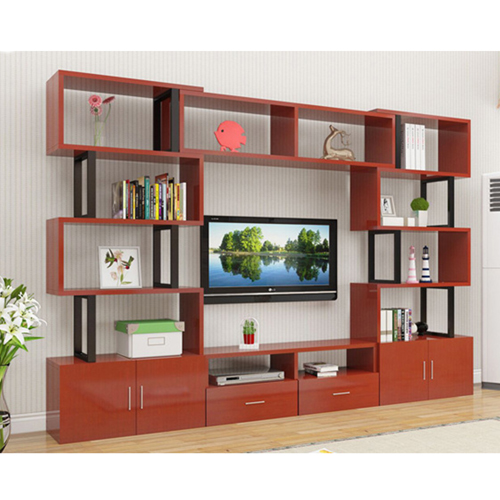 Creative Modern Steel Wood Bookshelf Image 14