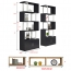 Creative Modern Steel Wood Bookshelf Image 17