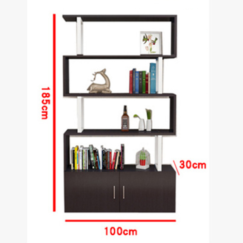 Creative Modern Steel Wood Bookshelf Image 20