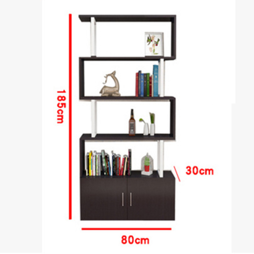 Creative Modern Steel Wood Bookshelf Image 21