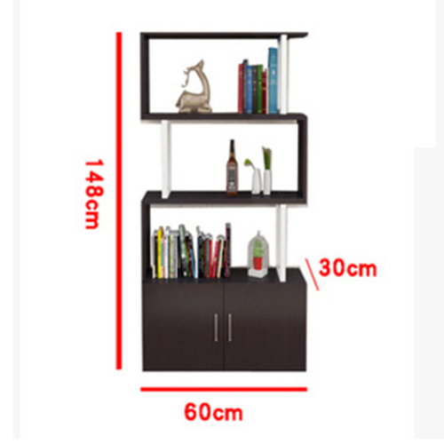 Creative Modern Steel Wood Bookshelf Image 22