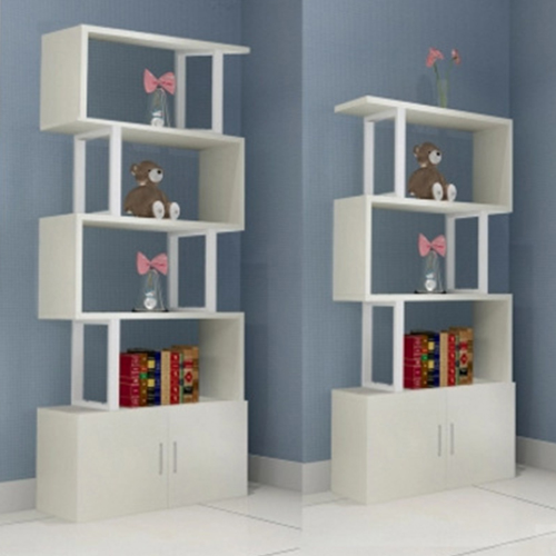 Creative Modern Steel Wood Bookshelf Image 1