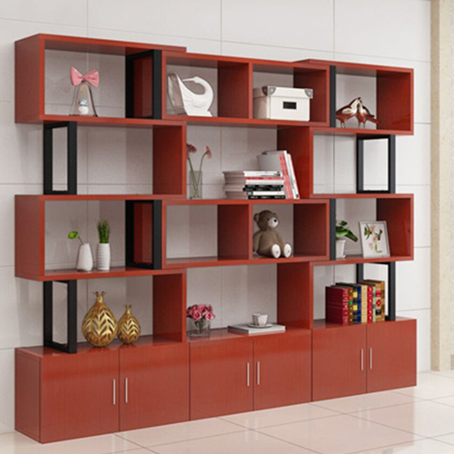 Creative Modern Steel Wood Bookshelf Image 2