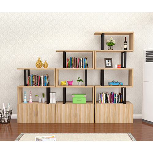 Creative Modern Steel Wood Bookshelf Image 6