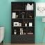 Lattice Wooden Storage Cabinet with Door Bookcase Image 10