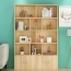 Lattice Wooden Storage Cabinet with Door Bookcase Image 13