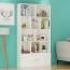 Lattice Wooden Storage Cabinet with Door Bookcase Image 14