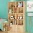 Lattice Wooden Storage Cabinet with Door Bookcase Image 16