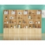 Lattice Wooden Storage Cabinet with Door Bookcase Image 17