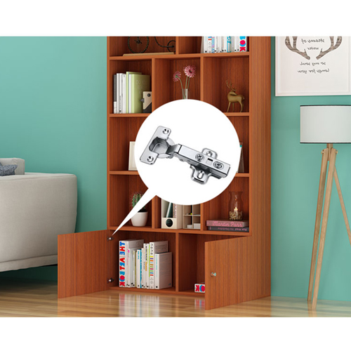 Lattice Wooden Storage Cabinet with Door Bookcase Image 18