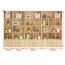 Lattice Wooden Storage Cabinet with Door Bookcase Image 21