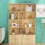 Lattice Wooden Storage Cabinet with Door Bookcase