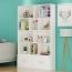 Lattice Wooden Storage Cabinet with Door Bookcase Image 2