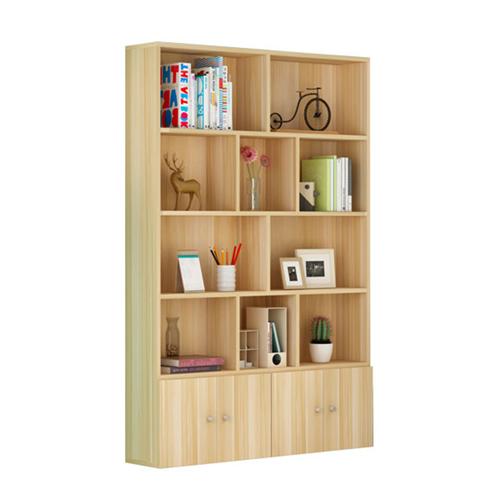 Lattice Wooden Storage Cabinet with Door Bookcase Image 8