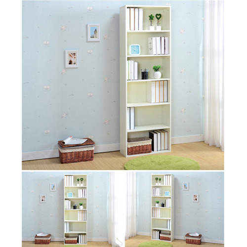 Wooden 6th Floor Plaid Storage Bookcase Image 9