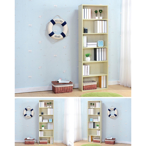 Wooden 6th Floor Plaid Storage Bookcase Image 11