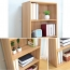 Wooden 6th Floor Plaid Storage Bookcase Image 15