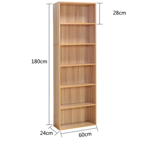 Wooden 6th Floor Plaid Storage Bookcase Image 20