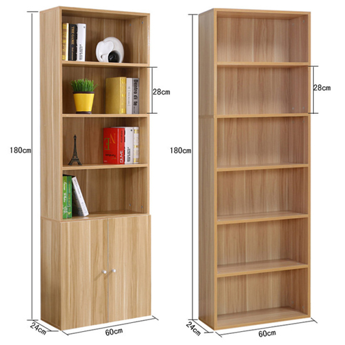 Wooden 6th Floor Plaid Storage Bookcase Image 21
