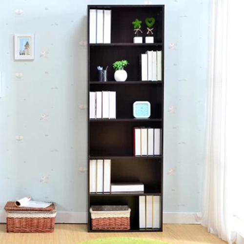 Wooden 6th Floor Plaid Storage Bookcase Image 3
