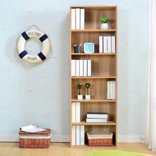 Wooden 6th Floor Plaid Storage Bookcase Image 4