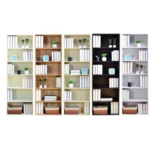 Wooden 6th Floor Plaid Storage Bookcase Image 5