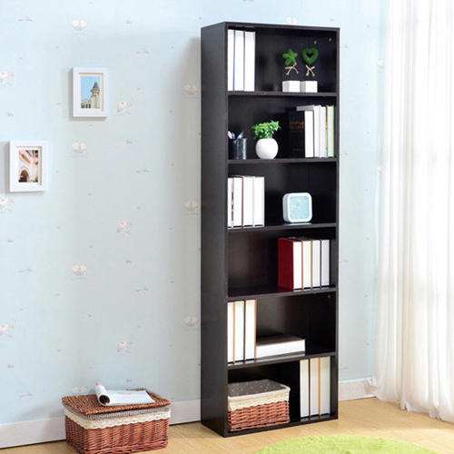 Wooden 6th Floor Plaid Storage Bookcase Image 7