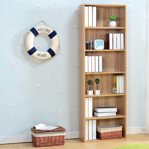 Wooden 6th Floor Plaid Storage Bookcase