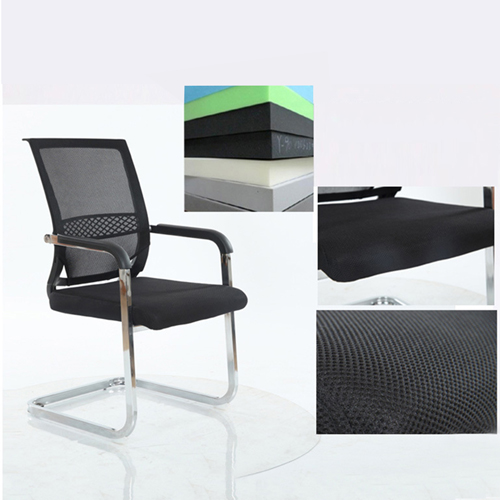 Chromium Mesh Backrest Armchair Image 8