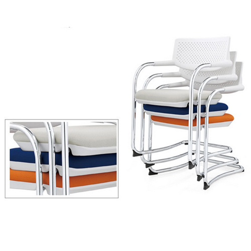 Fashion Chrome Frame Stackable Chair Image 10