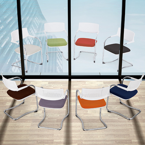 Fashion Chrome Frame Stackable Chair Image 4