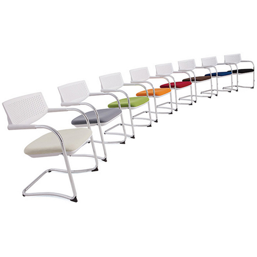 Fashion Chrome Frame Stackable Chair Image 6