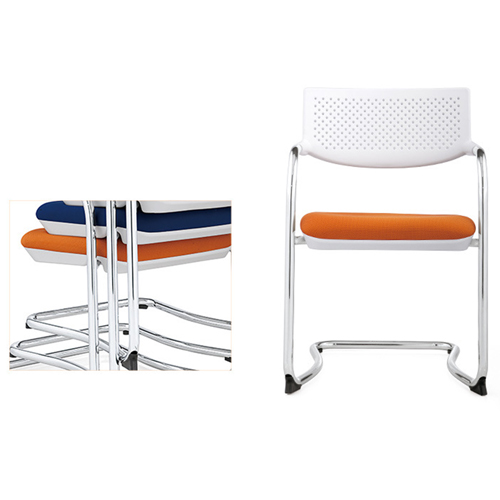 Fashion Chrome Frame Stackable Chair Image 8