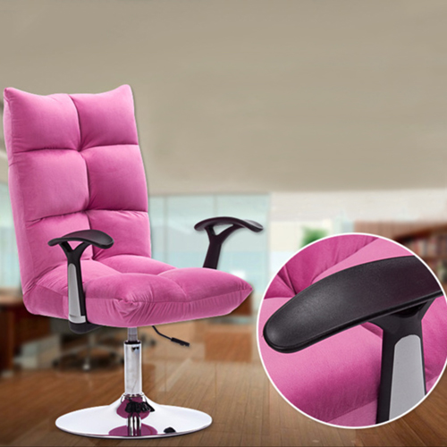 Personalized Velvet Chair With Chrome Base Image 16