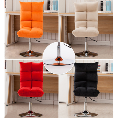 Personalized Velvet Chair With Chrome Base Image 19